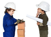 Arbeider en supervisor Royalty-vrije Stock Afbeeldingen
