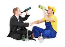 Arbeider en zakenman royalty-vrije stock foto's