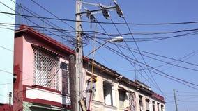 Arbeider in Havana, Cuba stock videobeelden