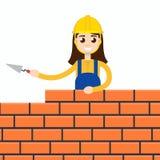 Arbeider of metselwerk of steenhouwer vector illustratie