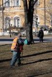 Arbeider in Moskou het Kremlin De Plaats van de Erfenis van de Wereld van Unesco Royalty-vrije Stock Foto