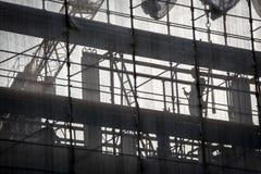 Arbeider op silhouet Stock Afbeeldingen