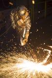 Arbeider in termokostuum Royalty-vrije Stock Foto