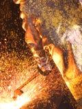 Arbeider in termokostuum Stock Fotografie