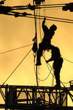 Arbeiders 01 van het silhouet Stock Afbeelding