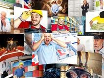 Arbeiders stock afbeelding