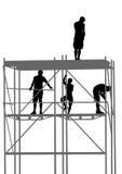 Arbeiders bij de bouw Stock Foto's