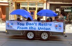 Arbeiders bij de Parade van de Dag van de Arbeid Stock Foto