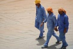 Arbeiders in Doubai Royalty-vrije Stock Foto's