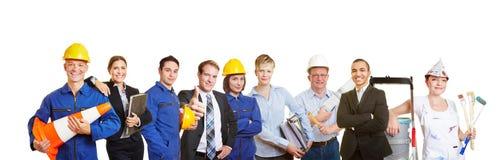 Arbeiders en bedrijfsmensen royalty-vrije stock afbeelding