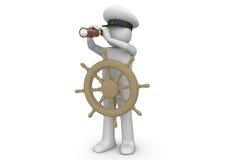 Arbeiders - Kapitein royalty-vrije illustratie