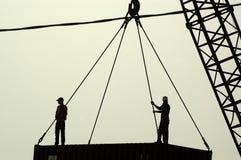 Arbeiders op plicht stock foto