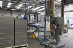 Arbeiders Werkende Machine stock foto