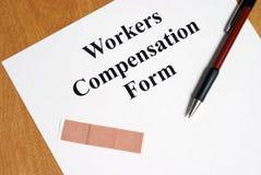 Arbeiderscompensatie Stock Foto's