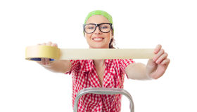 Arbeidersvrouw stock afbeelding