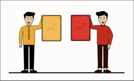 Arbeiderszakenman Presenting vector illustratie