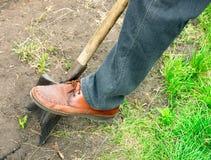 Arbeit in einem Garten Lizenzfreies Stockbild