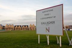 Arbeit fährt auf Phase eine Nord-Stowe, Cambridgeshire fort Stockfotografie