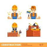 Arbeit für Erbauer oder Vorarbeiter lizenzfreie abbildung