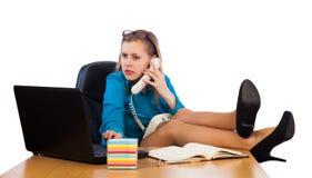 Arbeit im Büro Stockfoto