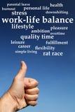 Arbeit-Lebensbalance Stockbild