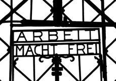 Arbeit Mach Frei, Dachau, Deutschland Lizenzfreie Stockbilder