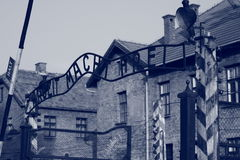 Arbeit Macht Frei. The entrance to the concentration camp of Auschwitz, Arbeit Macht Frei Royalty Free Stock Photo