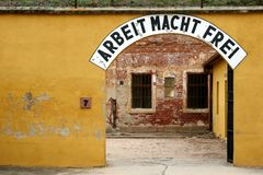 Arbeit Macht Frei Sign Stock Images