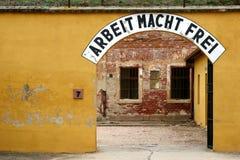 Arbeit Macht Frei Sign. In Theriesenstadt stock images