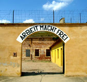 Arbeit Macht Frei. Small fortress in Terezin. Gestapo prison Royalty Free Stock Photo