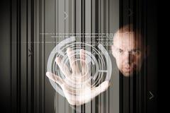 Arbeit mit Touch Screen Lizenzfreies Stockbild