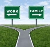 Arbeit oder Familie Lizenzfreies Stockbild