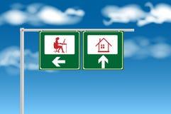 Arbeit oder Rest auf süßem Haus Lizenzfreies Stockbild