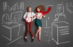 ARBEIT ROMANCE Stockfotografie