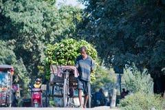 Arbeit in Siliguri stockfoto