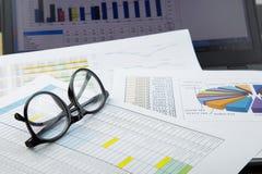 Arbeit und Diagramm Stockfoto