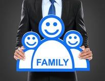 Arbeit und Familienkonzept lizenzfreies stockbild