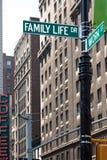 Arbeit und Familienleben Stockfotografie