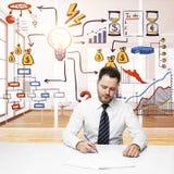 Arbeit und Finanzkonzept Stockfotos