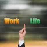 Arbeit und Leben Stockbild