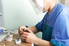 Arbeit von zahnmedizinischem Stockbilder