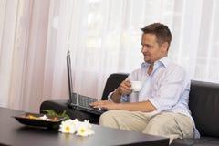 Arbeit zu Hause Lizenzfreies Stockfoto