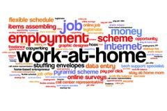 Arbeit zu Hause Lizenzfreie Stockfotos