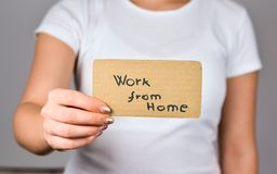 Arbeit zu Hause, die Jobs annonciert stockbilder