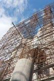 Arbeiten über Sagrada Familia stockfotografie
