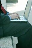 Arbeiten an dem Computer Lizenzfreie Stockfotos