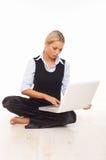 Arbeiten an dem Fußboden Lizenzfreie Stockfotos