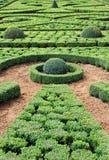 Arbeiten ein La francaise im Hautefort Schloss, Frankreich im Garten Lizenzfreie Stockfotos
