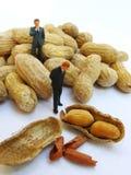 Arbeiten für Erdnüsse Stockbild