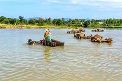 Arbeiten an Fluss Lizenzfreies Stockfoto